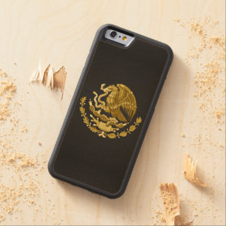 Mexican coat of arms carved® maple iPhone 6 bumper case