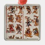Mexican codex christmas tree ornaments