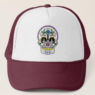 Mexican Coffee Skull Trucker Hat