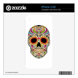 Mexican color skull iPhone 4S decal