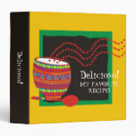 Mexican cooking decorated bowl recipe binder