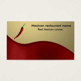 Mexican cuisine business card