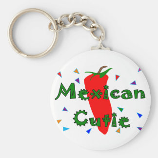 Mexican Cutie Red Chilli Pepper T-Shirts & Gifts Basic Round Button Keychain