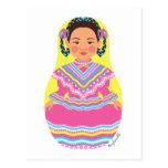 Mexican Dancer Matryoshka Postcard