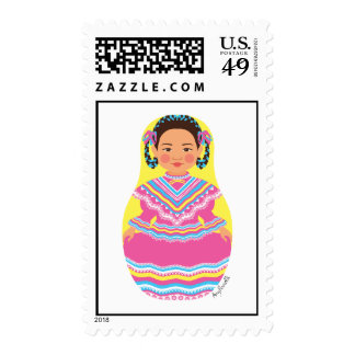 Mexican Dancer Matryoshka Stamps