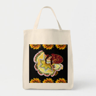 Mexican Dancer Tote Canvas Bags