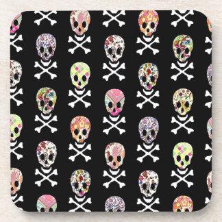 Mexican Day of Dead Skull Crossbones Coaster