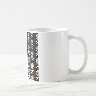 Mexican Day of Dead Skull Crossbones Coffee Mug