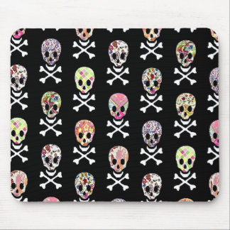 Mexican Day of Dead Skull Crossbones Mouse Pad