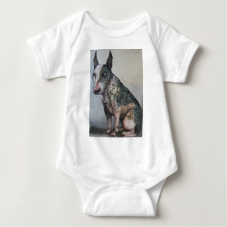 Mexican day of the dead bull terrier baby bodysuit