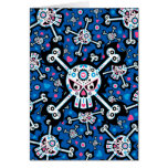 Mexican Day of the Dead 'Dia de Muertos' Skull Greeting Cards