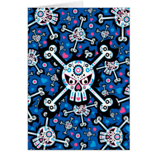 Mexican Day of the Dead Dia de Muertos Skull Greeting Cards