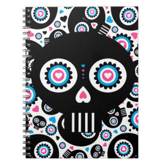 Mexican Day of the Dead 'Dia de Muertos' Skull Spiral Note Books
