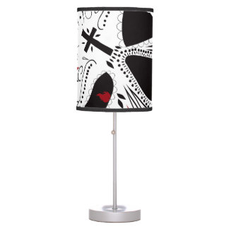 Mexican Day of the Dead Lamp by Bad Cake