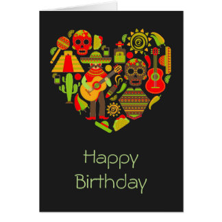 Mexican day of the dead Mexico birthday Card