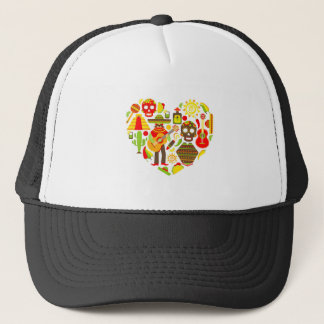 Mexican day of the dead Mexico Trucker Hat