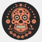 Mexican Day of the Dead Sugar Skull Classic Round Sticker