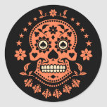 Mexican Day of the Dead Sugar Skull Classic Round Sticker