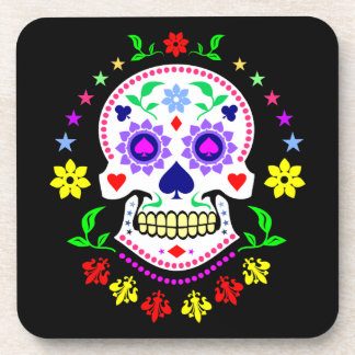Mexican Day of the Dead Sugar Skull Drink Coaster