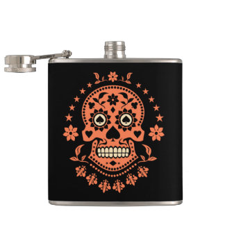 Mexican Day of the Dead Sugar Skull Flask