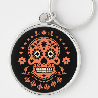 Mexican Day of the Dead Sugar Skull Keychain