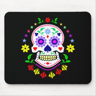 Mexican Day of the Dead Sugar Skull Mouse Pad