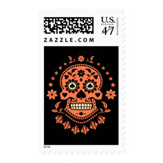 Mexican Day of the Dead Sugar Skull Postage