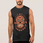 Mexican Day of the Dead Sugar Skull Sleeveless Shirt