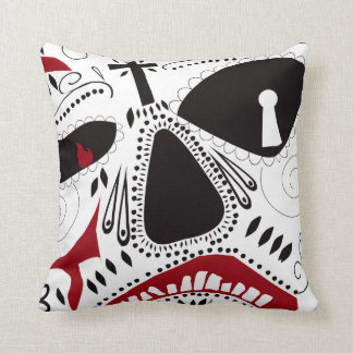 Mexican Day-of-the-dead throw pillow by Bad Cake