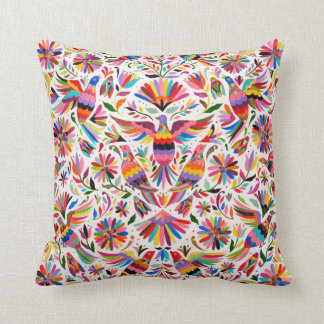 Mexican Design Colorful pigeons & Pheasant Pillow