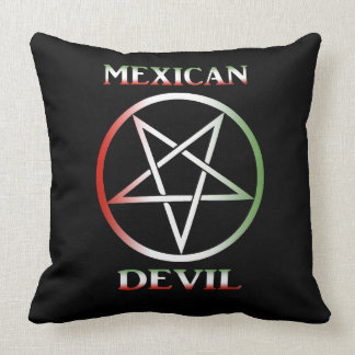 Mexican Devil Throw Pillow