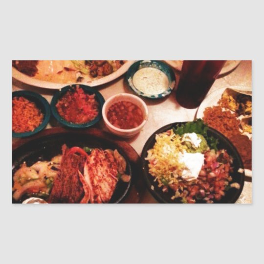 Mexican Dinner Rectangular Sticker