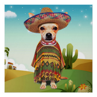 Mexican dog ,chihuahua poster