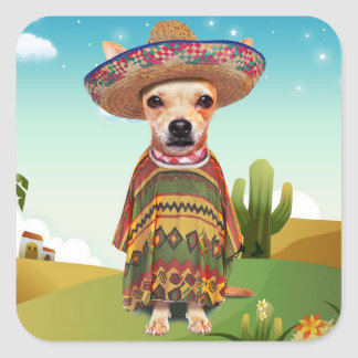 Mexican dog ,chihuahua square sticker