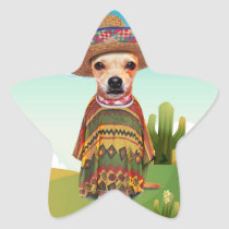 Mexican dog ,chihuahua star sticker