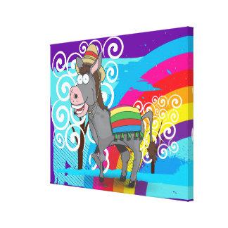 Mexican Donkey Canvas Print