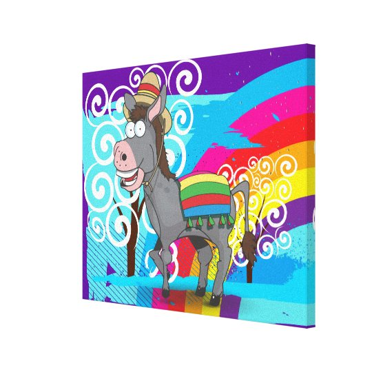 Mexican Donkey Canvas Print