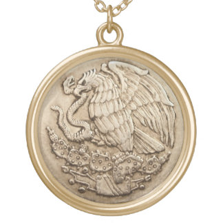 Mexican eagle necklace
