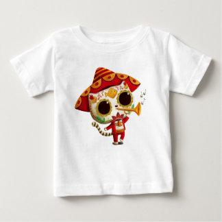Mexican El mariachi Cute Cat Baby T-Shirt