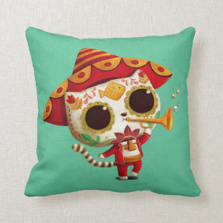 Mexican El mariachi Cute Cat Pillows