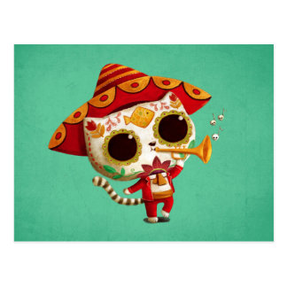 Mexican El mariachi Cute Cat Postcard