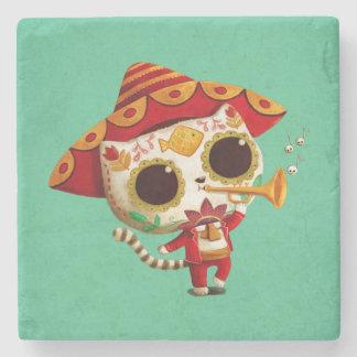Mexican El mariachi Cute Cat Stone Coaster