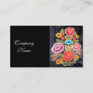 Embroidery business cards templates zazzle mexican embroidery design business card colourmoves