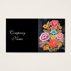 Mexican Embroidery Design Business Card at Zazzle