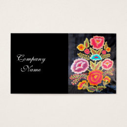 Embroidery business cards templates zazzle mexican embroidery design business card colourmoves Choice Image