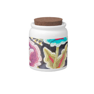 Mexican Embroidery design Candy Jars
