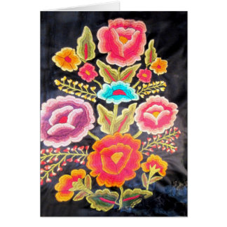Mexican Embroidery design Card