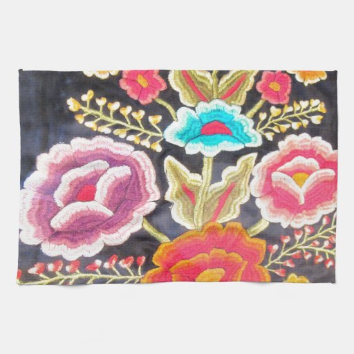 Mexican Embroidery Design Hand Towel