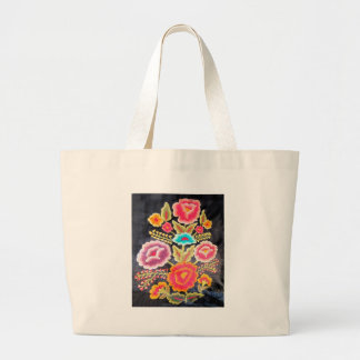 Mexican Embroidery design Large Tote Bag