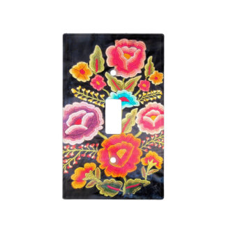 Mexican Embroidery design Light Switch Cover